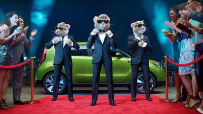 "The new ""Totally Transformed"" Kia Soul ad features the Kia Hamsters like you've never seen them before.  (PRNewsFoto/Bill Jacobs Automotive Group)"
