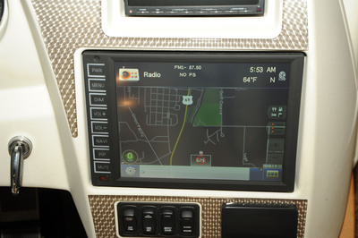 "Winnebago Industries is now using the Rand McNally RV GPS navigation system that features a 10.4"" display, the largest integrated in-dash OEM solution in the RV market today.  (PRNewsFoto/Winnebago Industries, Inc.)"