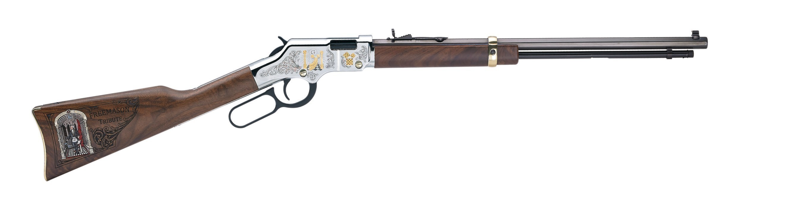 The Henry Golden Boy Freemasons Tribute Edition Rifle. Visit henryrifles.com to learn more.