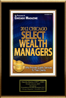 "Timothy Rueter Selected For ""2012 Chicago Select Wealth Managers.""  (PRNewsFoto/American Registry)"