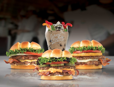 Johnny Rockets New Double-Stacked Burgers and Goosebumps Shake Available for a Limited Time