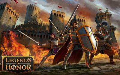 Legends of Honor - three factions battling for glory and honor. Browser game Legends of Honor from Goodgame Studios takes commanders into a glorious medieval world where only one thing matters: living and dying for the honor of your faction. (PRNewsFoto/Goodgame Studios)