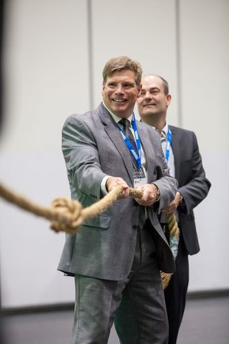 Executives getting to grips with the main issues at Safety & Health Expo 2014 (PRNewsFoto/UBM Live)