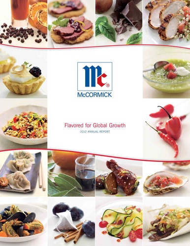 McCormick's 2012 Annual Report 'Flavored for Global Growth' Scented with Blackberry and Clove