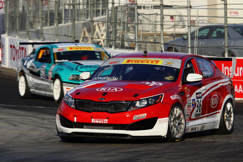 Kia Racing Returns to The Streets of Long Beach as Presenting Sponsor for Round 3 of the Pirelli World Challenge.  (PRNewsFoto/Kia Motors America)