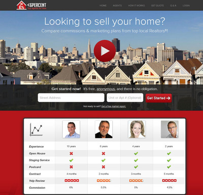 Compare Realtor Commissions on LessThan6Percent.  (PRNewsFoto/LessThan6Percent, Inc)