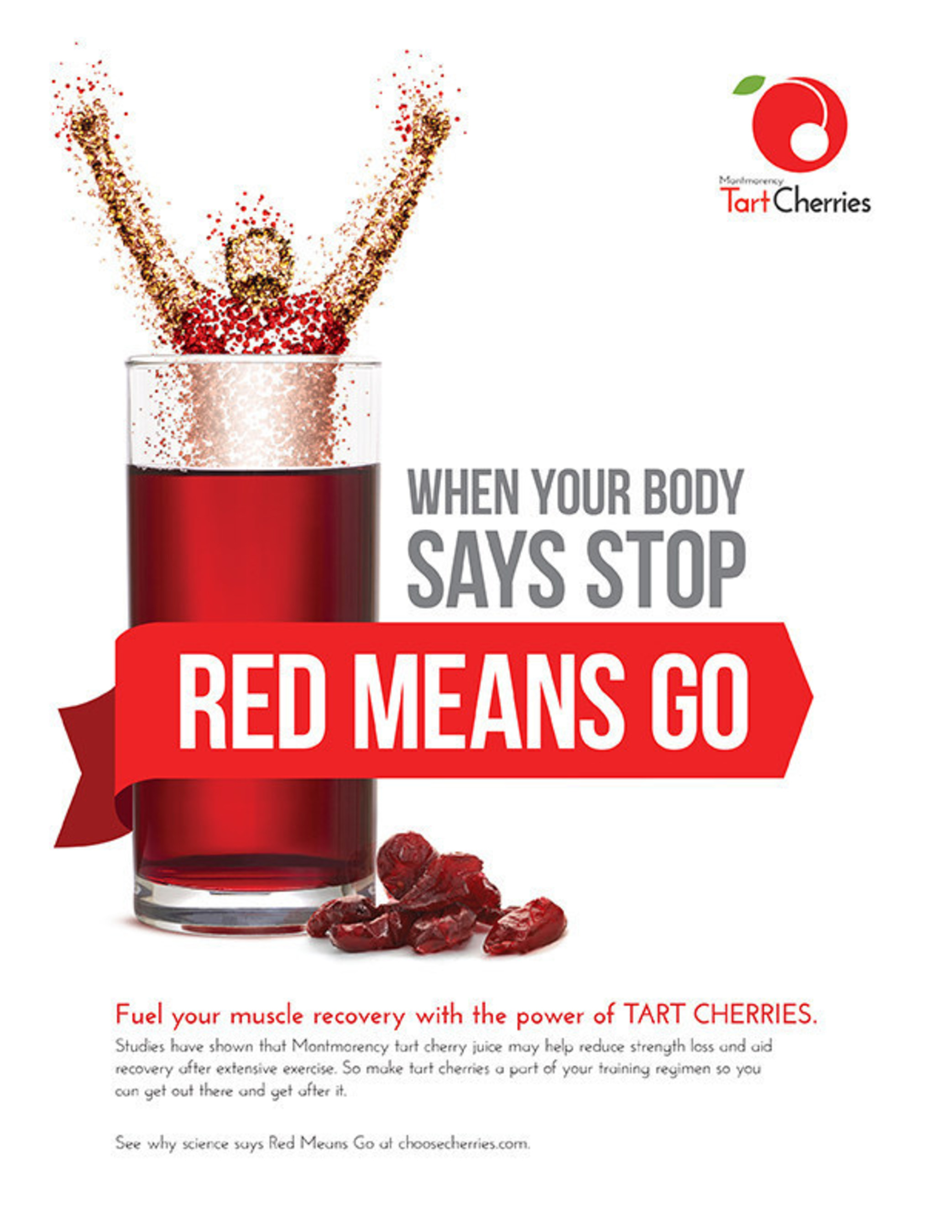 Red Means Go: Tart Cherry Industry Launches Campaign Encouraging