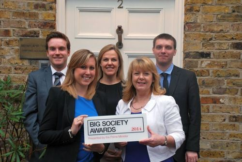 CRASH Honoured with a Big Society Award from the Prime Minister (PRNewsFoto/crash)