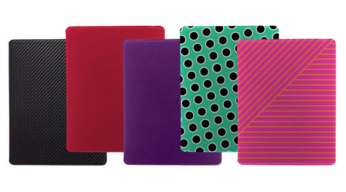 For $39.99, the Slim Case for iPad features a protective molded shell, an elastic closure strap, and GripTrack Technology(TM), a friction-based solution for stand modes that allows the case to achieve a wide variety of viewing and typing angles.  (PRNewsFoto/M-Edge)