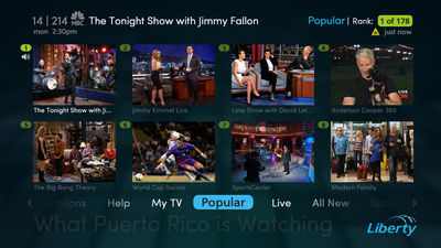 Liberty Puerto Rico infuses TV navigation with social smarts; unveils trend-driven, video-rich mosaics on existing STBs