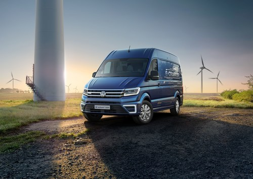 The highlight of this year's IAA Commercial Vehicles: the new e-Crafter. (PRNewsFoto/Volkswagen Commercial ...