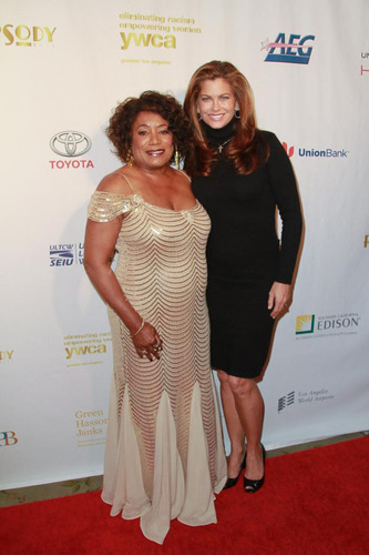 Faye Washington YWCA Greater Los Angeles Chief Executive Officer and Kathy Ireland at 2013 Rhapsody Ball.  ...