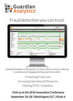 Guardian Analytics® To Showcase Industry Leading Behavioral Analytics Fraud Detection Solution at Digital Insight's 2016 Innovation Conference