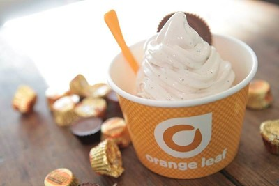 Orange Leaf Frozen Yogurt and The Hershey Company team up to offer Reese's Peanut Butter Cup froyo