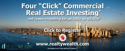 """RealtyWealth.com's Proprietary Portal Offering """"4-Click Investing"""""""