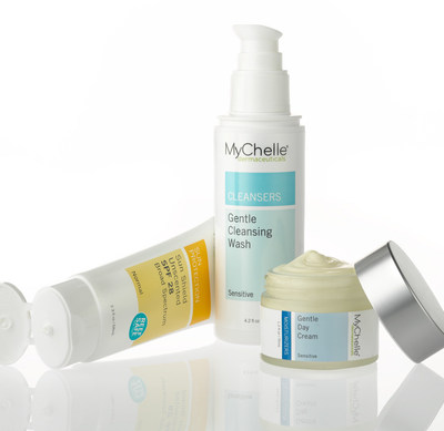 The new MyChelle Gentle Cleansing Wash ($16/4.2 fl. oz.) and Gentle Day Cream ($28/1.2 fl. oz.) are a fragrance-free duo formulated with the company's patented DermaCalm ComplexTM, a mild combination of Blue Daisy and French Oak Extract to effectively fortify, nourish, and restore moisture to even extremely sensitive skin.