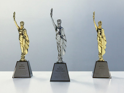 Simpson Healthcare Executive's MarCom Awards Platinum and Gold Trophies