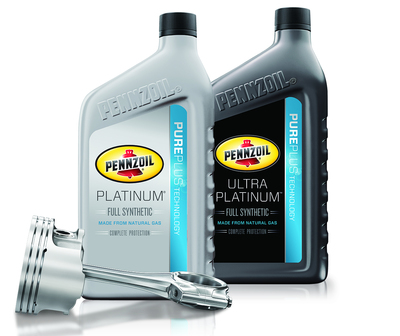 Pennzoil Platinum and Pennzoil Ultra Platinum Motor Oils with PurePlus Technology Designed For Complete Protection, Made From Natural Gas (PRNewsFoto/Pennzoil )