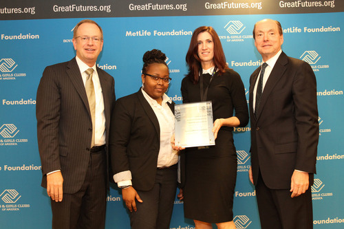 Boys & Girls Clubs of Dorchester receives Merit Award from Boys & Girls Clubs of America Pictured from left to ...