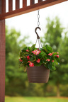 This Mother's Day, give Mom  a new hanging basket, which is Lowe's top live nursery gift for the holiday, full of begonias, geraniums, New Guineas or petunias in hues of pink and purple. (PRNewsFoto/Lowe's Companies, Inc.)