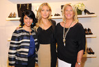 Kate Hudson, Ann Taylor Brand Ambassador, and Kay Krill, President and CEO of ANN INC., with the ANNpower 2012 Grant Winner, Monica Mishra in NYC for the Clinton Global Initiative 2013 Annual Meeting