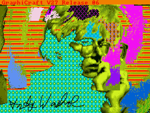 This image, signed by Warhol, was retrieved from an Amiga disk by the Carnegie Mellon University (CMU) Computer  ...