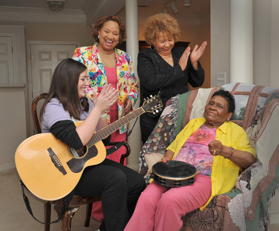Hospice Savannah, Inc., in Georgia, offers a music therapy program for those they care for, one of the many complementary therapy services that hospice may provide.  (PRNewsFoto/National Hospice and Palliative Care Organization)