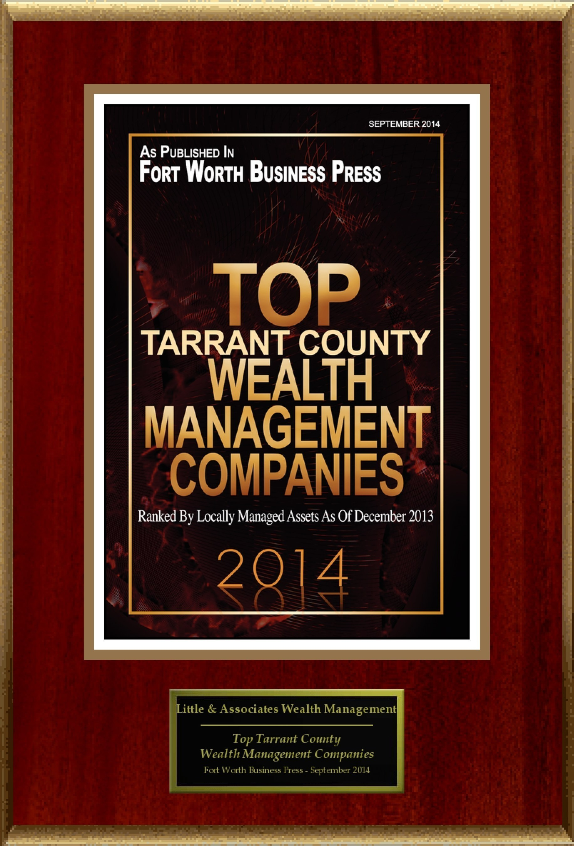 """Little & Associates Wealth Management Selected For """"Top Tarrant County Wealth Management Companies"""""""