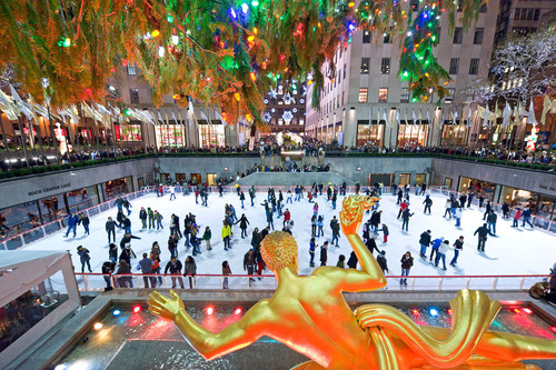 The first ice rink to open in New York City each year, The Rink at Rockefeller Center is an international ...