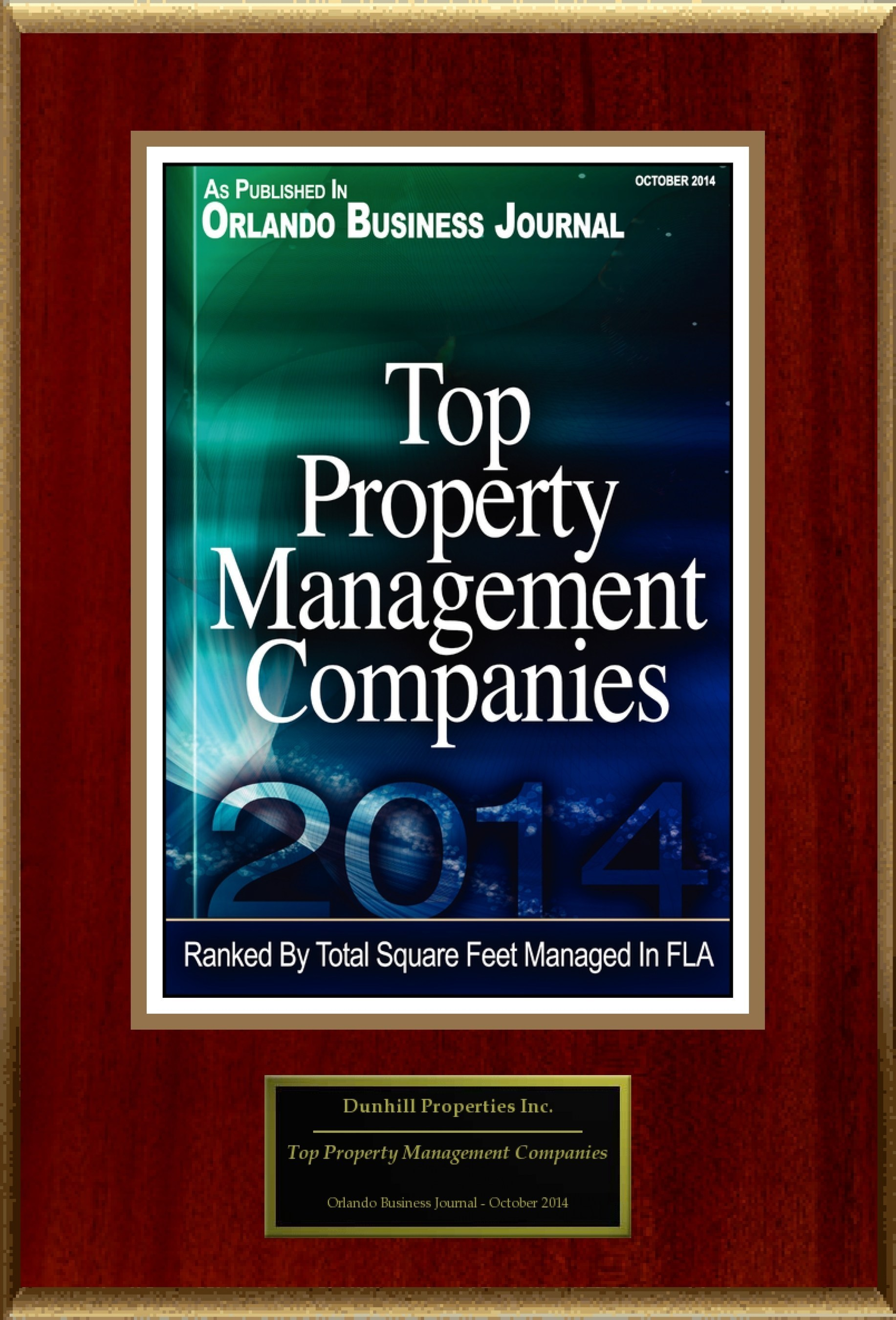 """Dunhill Properties Inc. Selected For """"Top Property Management Companies"""