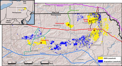 Marcellus Shale Properties.  (PRNewsFoto/Southwestern Energy Company)