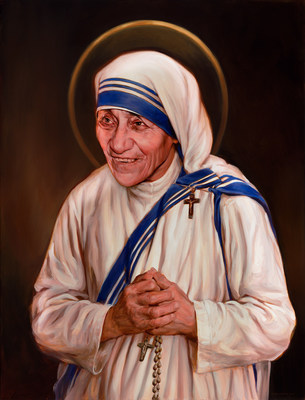 The official canonization portrait of Mother Teresa, commissioned by the Knights of Columbus, will be on displayed at St. Patrick's Cathedral for a Mass of thanksgiving for the canonization to be celebrated by Cardinal Timothy Dolan on Saturday, Sept. 10, at 9:30 a.m.