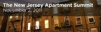 300 senior-level commercial real estate and capital markets executives are expected to attend The New Jersey Apartment Summit on November 2.  (PRNewsFoto/CapRate Events, LLC)