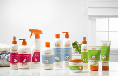 giggle enters the baby care category with the debut of the brand's Lotions & Potions clean and care collection, giggle's largest product launch in company history.