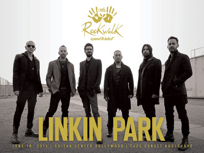 Grammy Award-Winning Rock Band LINKIN PARK to be Inducted into Guitar Center's Historic RockWalk (PRNewsFoto/Guitar Center)