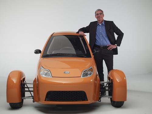 CEO and Founder Paul Elio with the newest Elio motors vehicle. (PRNewsFoto/Elio Motors)