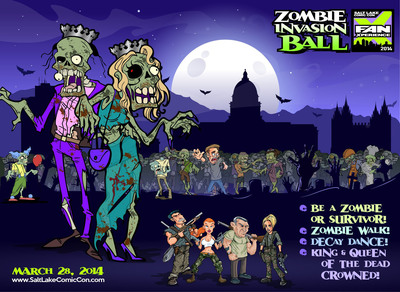 Salt Lake Comic Con FanX Zombie Ball, March 28, 2014 at the Utah State Capitol.