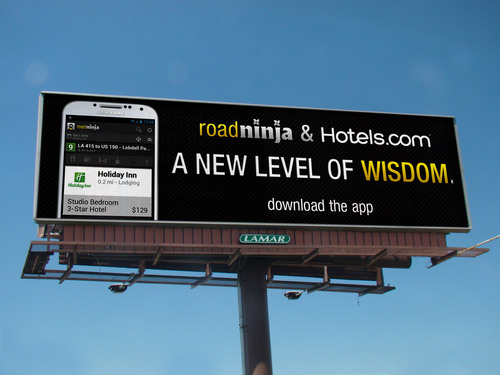 Hotels.com, preferred provider of hotel pricing, reservation functionality and content helps travelers pinpoint the best hotel for their needs with RoadNinja travel app.  (PRNewsFoto/Hotels.com)