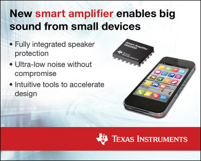 New smart amplifier enables big sound from small devices