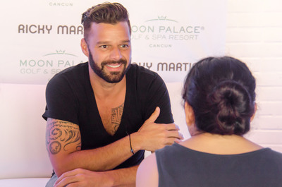 Grammy-award winning singer Ricky Martin rocked the stage at an exclusive sold-out concert at Cancun's Moon Palace Golf & Spa Resort on Saturday, December 28, 2013. Martin sang in front of more than 13,000 resort guests, locals fans and VIPs. Following the concert, the hotel hosted local socialites, government officials and other hotel VIPs at the property's onsite nightclub, Noir. Moon Palace Golf & Spa Resort continues to elevate the all-inclusive concept and offer guests an unforgettable vacation experience by combining world-class hospitality and top-rated live entertainment with exceptional amenities and attractions.  (PRNewsFoto/Palace Resorts)