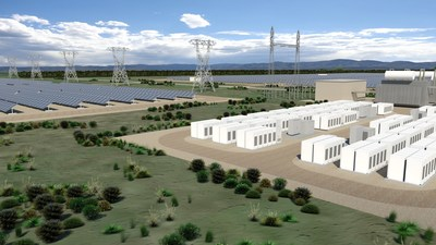 Connecticut Municipal Electric Energy Cooperative and SolarCity have announced the development of 13 megawatts (AC) of solar power systems and at least 1.5 megawatts (6.0 megawatt hours) of energy storage systems located in southern Connecticut. (sample rendering)