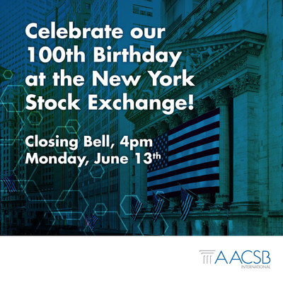 Through ringing of the NYSE Closing Bell, AACSB pauses to recognize 100 years of quality business education, and looks forward to redrawing the boundaries of what business schools--and graduates--can accomplish in society.