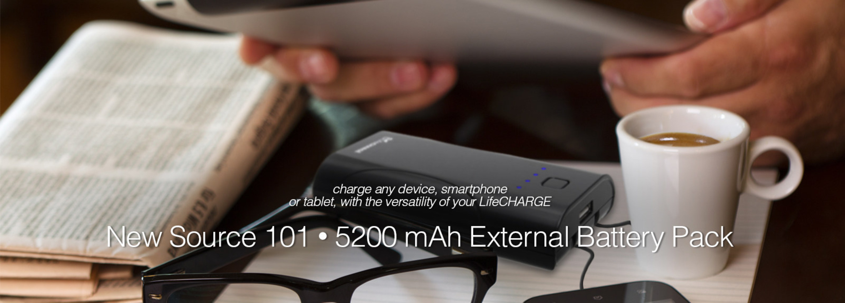 LifeCHARGE Announces Indiegogo Crowdfunding Campaign for Source 101 Rechargeable External Battery Pack
