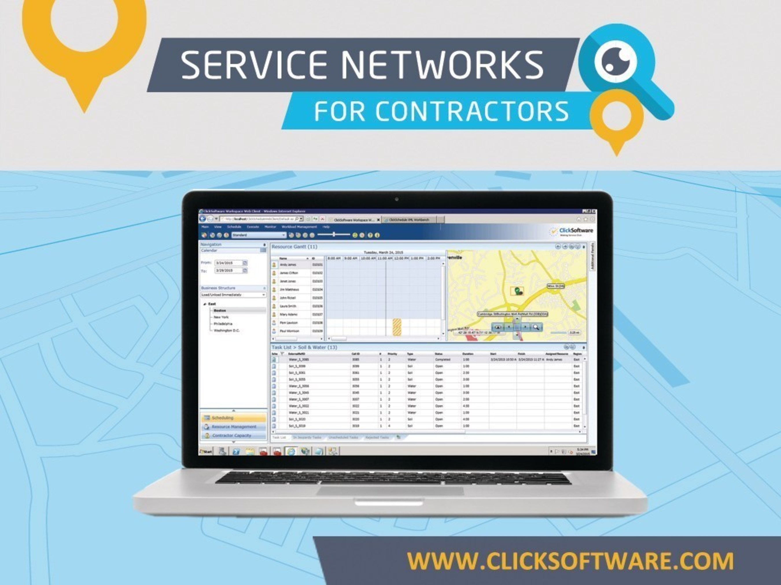 ClickSoftware's Service Networks for Contractors transforms the service experience for customers, enterprises and contractors