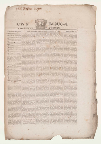 The Cherokee Phoenix -- the first Native American newspaper -- was launched in 1828 in New Echota, Ga. ...