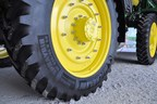 The MICHELIN SprayBib sprayer tire is designed to offer farmers a unique balance between a narrow tire to avoid crop damage and a flotation tire to minimize compaction