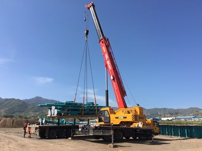 SANY STC500 Truck Crane at the Addis Ababa-Djibouti Railway construction site