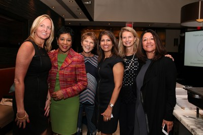 HER WEALTH LAUNCH EVENT, FROM LEFT TO RIGHT: Dawn Doebler, Bridgewater Wealth & Financial Management; Andrea Roane, WUSA9; Hillary Howard, WTOP Radio; Monika Samtani, Ms. Media; Nina Mitchell, Bridgewater Wealth & Financial Management; Cecilia Mencia, Posh Seven Magazine