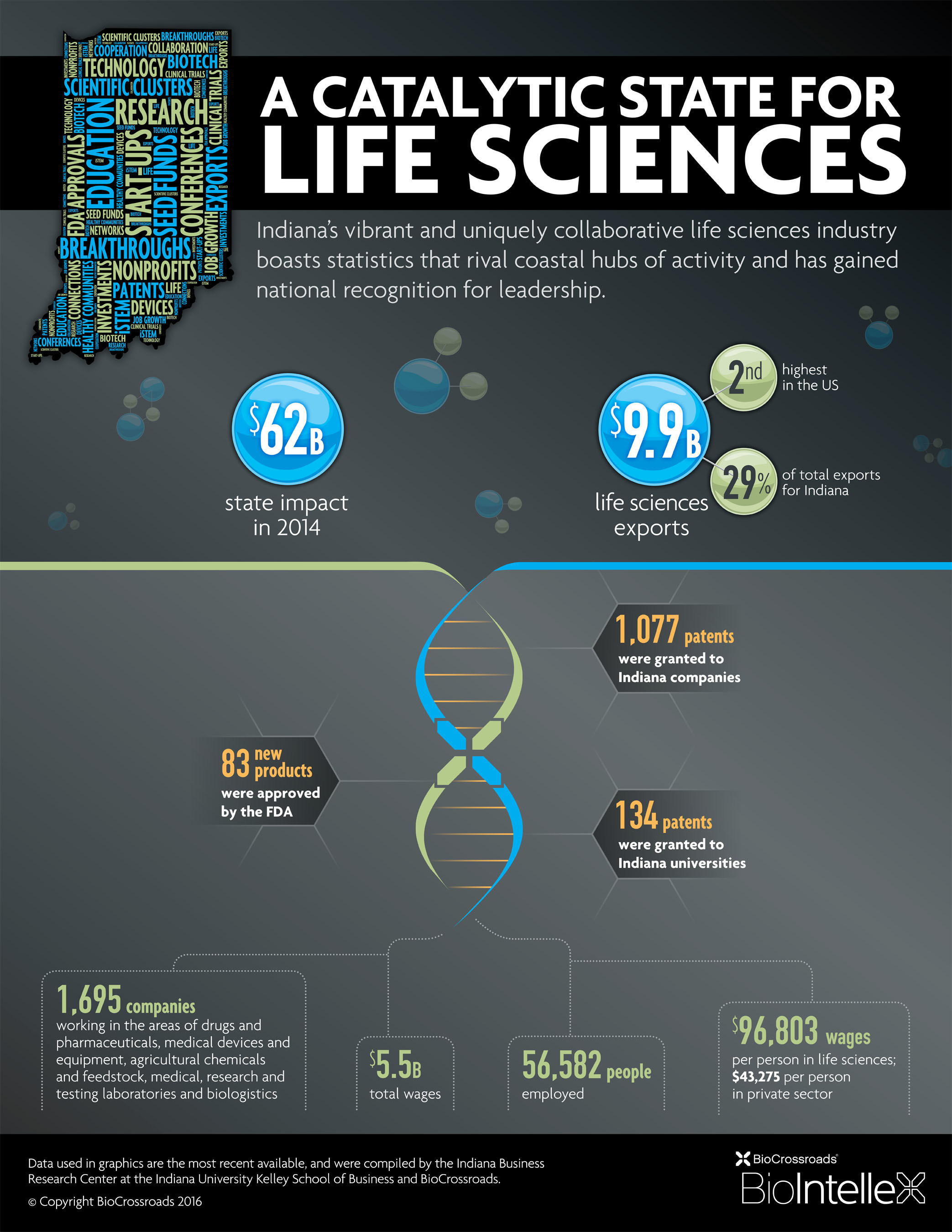 Innovation and talent are intertwined and embedded in the DNA of Indiana's life sciences industry.  ...