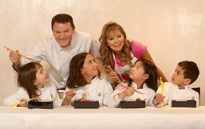 Dishes from the new InterContinental Hotel & Resorts Children's Menu, created by children's food expert, Annabel Karmel MBE and award-winning chef, Theo Randall, are put to the taste test by a panel of their toughest critics. The new menu - inspired by cuisines from across the globe - promises to take children through an exciting journey of food discovery and will be rolled out worldwide from January 2014. (PRNewsFoto/InterContinental Hotels Group)
